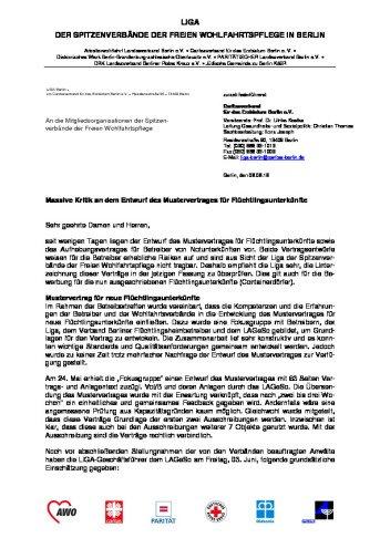 Stellungnahme Zum Betreibervertrag